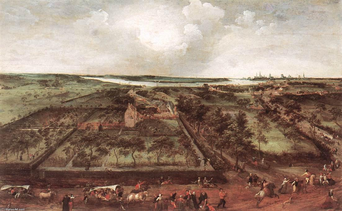 View of Kiel, 1578 by Jacob Grimmer (1525-1590, Belgium) | Art Reproductions Jacob Grimmer | ArtsDot.com