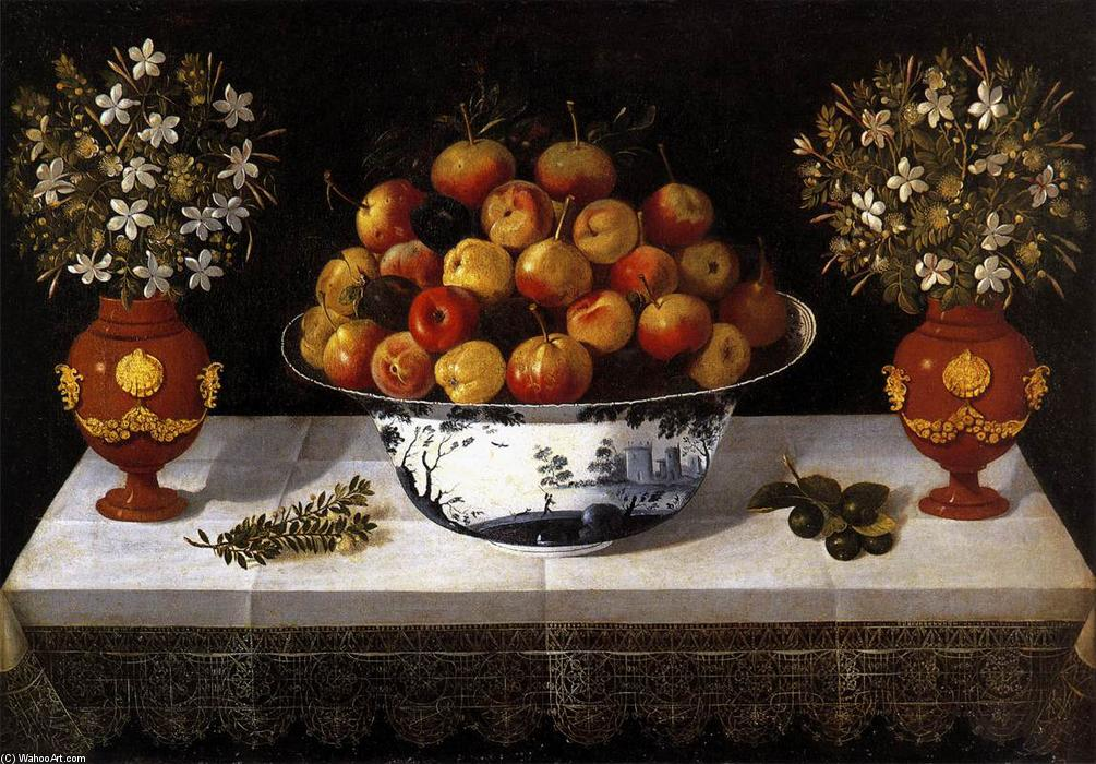 Still-Life with Fruit and Flowers, 1642 by Tomàs Yepes (1595-1674) | Art Reproduction | ArtsDot.com