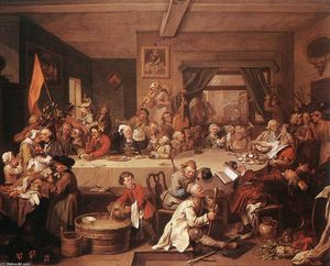 William Hogarth - An Election Entertainment