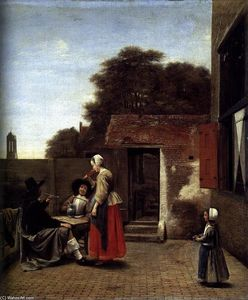 Pieter De Hooch - A Dutch Courtyard