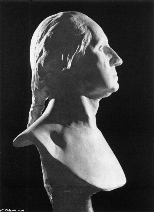 Bust of George Washington, Marble by Jean Antoine Houdon (1741-1828, France)