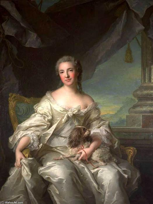 Madame la Comtesse d`Argenson, 1743 by Jean-Marc Nattier (1685-1766, France) | Art Reproduction | ArtsDot.com