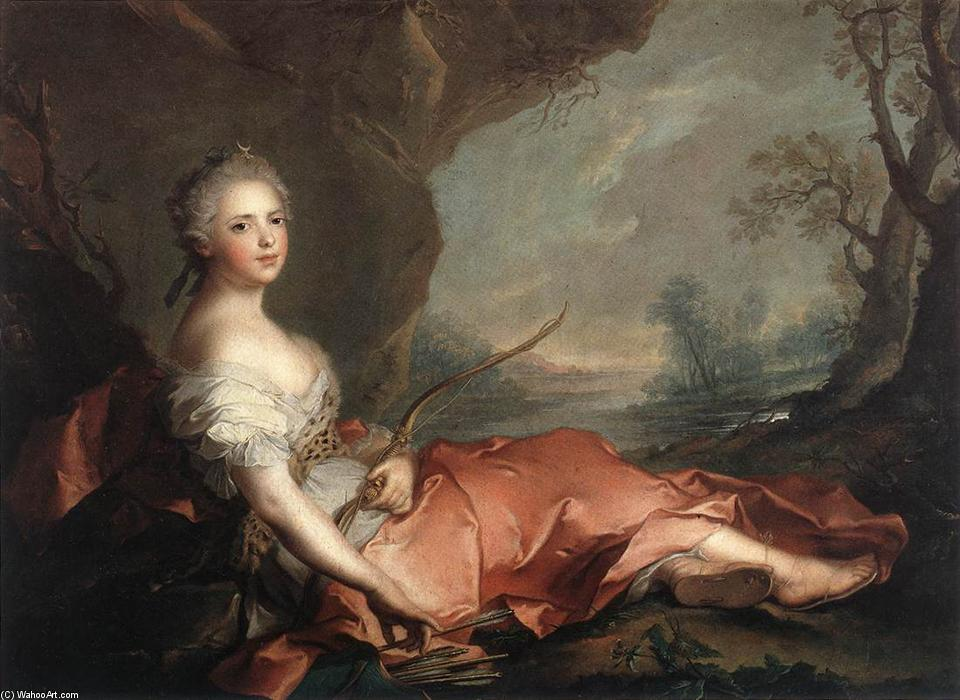 Marie Adelaide of France as Diana, 1745 by Jean-Marc Nattier (1685-1766, France) | Reproductions Jean-Marc Nattier | ArtsDot.com