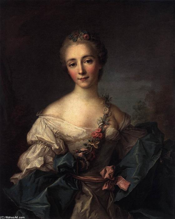 Portrait of a Young Woman, Oil On Canvas by Jean-Marc Nattier (1685-1766, France)
