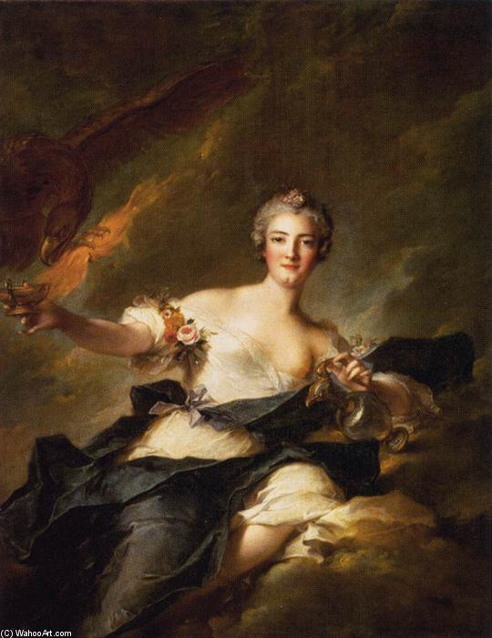 The Duchesse de Chaulnes Represented as Hebe, Oil On Canvas by Jean-Marc Nattier (1685-1766, France)