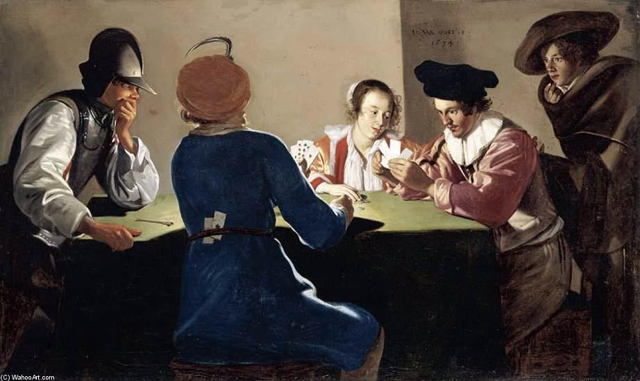 Card-Sharpers, 1634 by Jacob Van Oost (1603-1671, Belgium) | Art Reproduction | ArtsDot.com