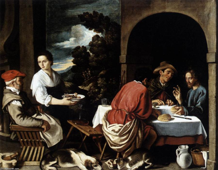 The Supper at Emmaus, Oil On Canvas by Pedro Orrente (1580-1645, Spain)