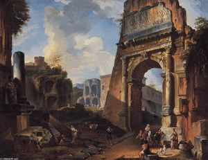 Giovanni Paolo Pannini - Ideal Landscape with the Titus Arch