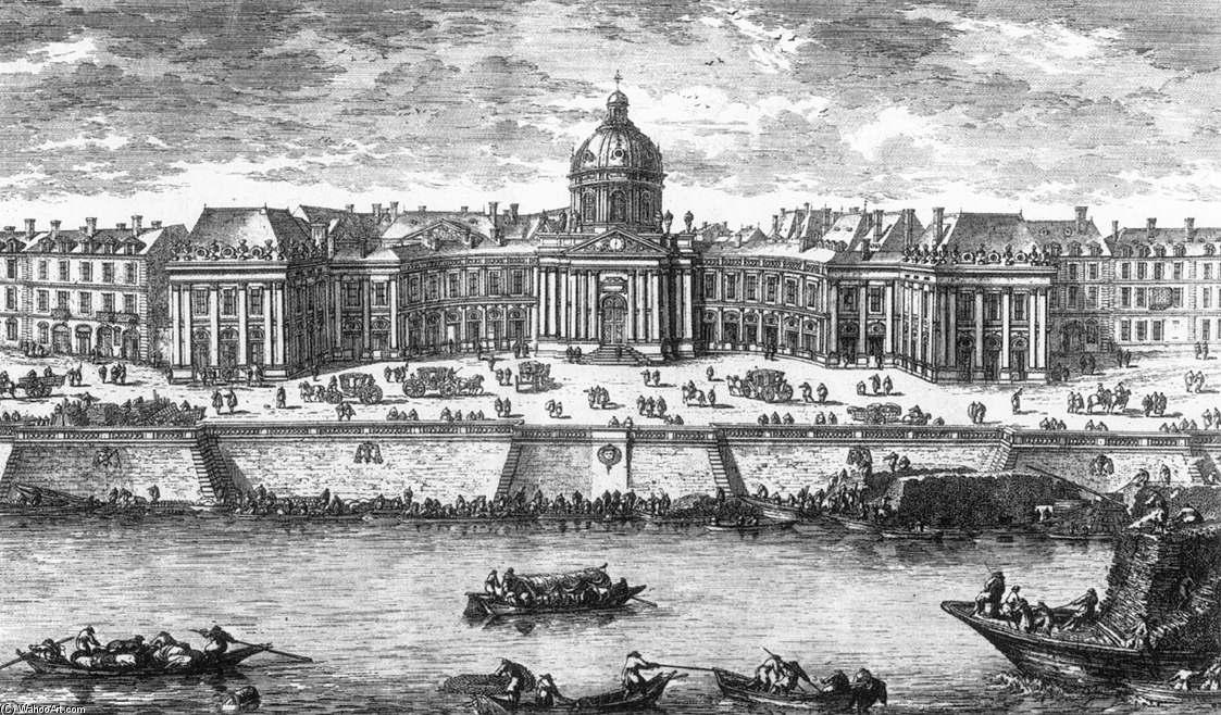 Buy Museum Art Reproductions : Collège des Quattre Nations, 1660 by Gabriel Pérelle (1604-1677, France) | ArtsDot.com