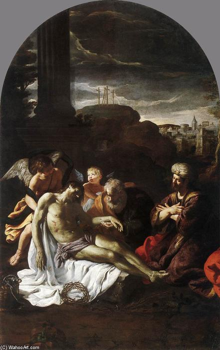 Pietà, Oil On Canvas by Pietro Da Cortona (1596-1669, Italy)