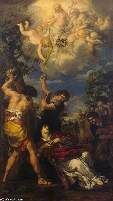 The Stoning of St Stephen, Oil On Canvas by Pietro Da Cortona (1596-1669, Italy)