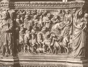 Nicola Pisano - Adoration of the Magi, relief from the pulpit