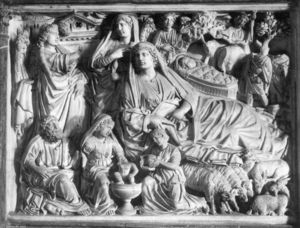 Nicola Pisano - Annunciation, Birth of Jesus and Adoration of the Shepherds