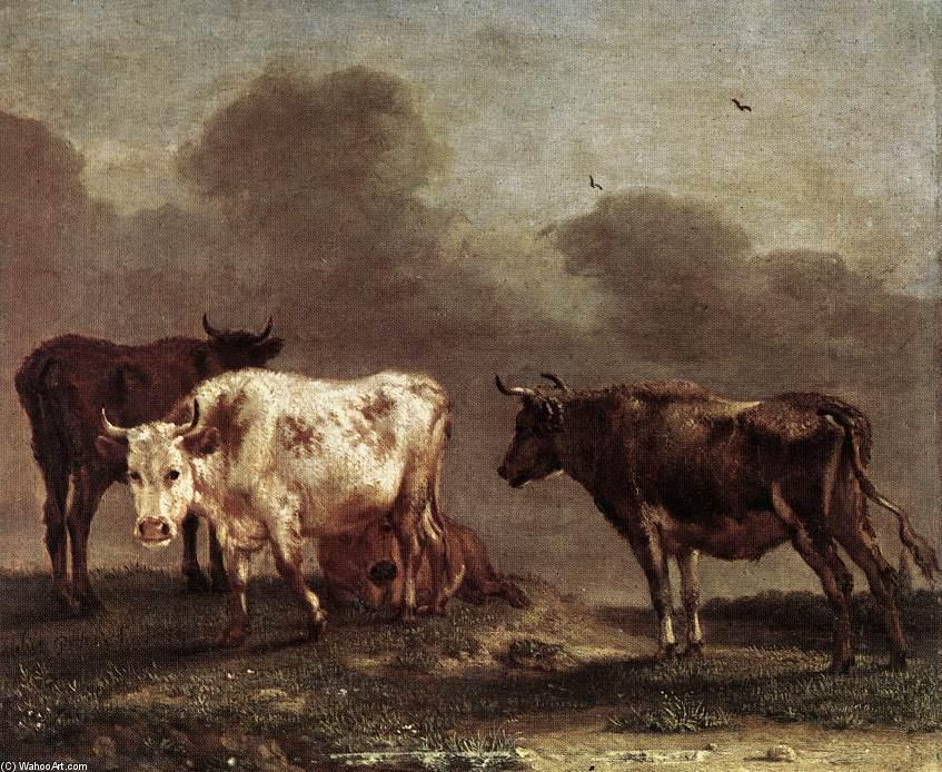 Cows in a Meadow by Paulus Potter (1625-1654, Netherlands) | Art Reproduction | ArtsDot.com