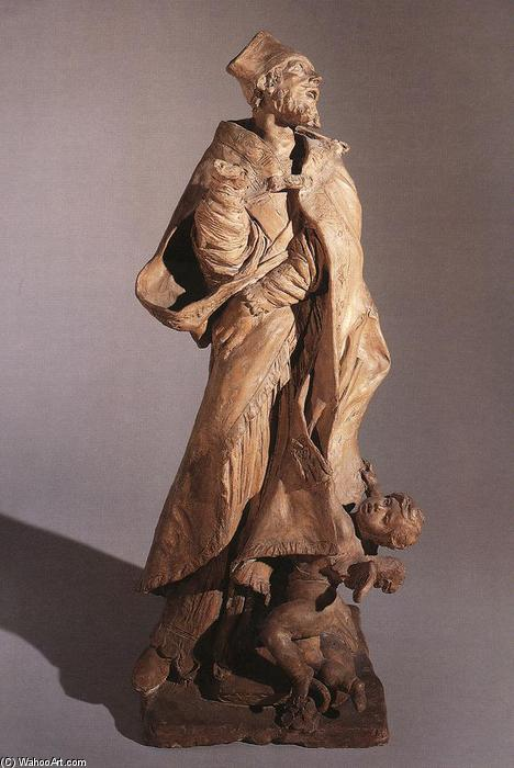 Alessandro Sauli, Terracotta by Pierre Puget (1620-1694, France)