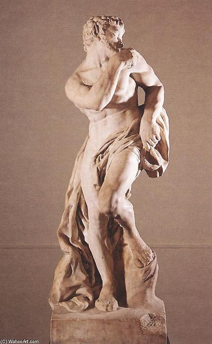 The Faun, Marble by Pierre Puget (1620-1694, France)