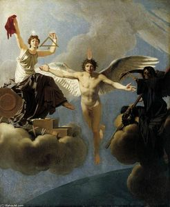 Jean Baptiste Baron Regnault - The Genius of France between Liberty and Death