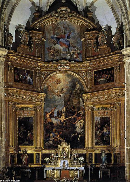 Altarpiece, Oil On Canvas by Francisco Rizi (1608-1685, Spain)