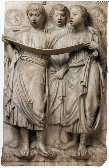 Cantoria: right side relief, Marble by Luca Della Robbia (1399-1482, Italy)