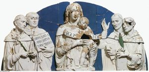 Luca Della Robbia - Madonna and Child between Saints