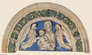 Luca Della Robbia - Madonna with Child and Angels