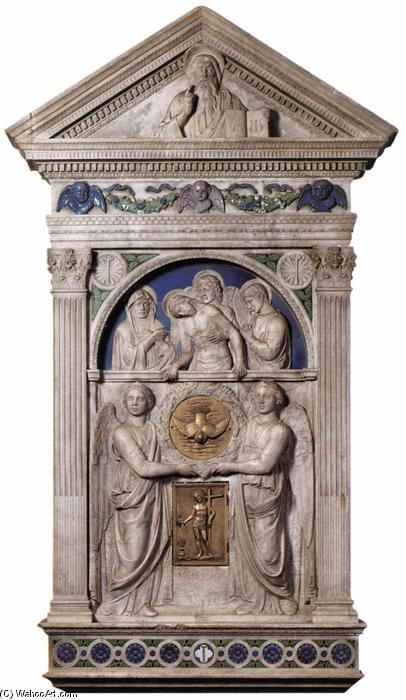 The Peretola Tabernacle, Marble by Luca Della Robbia (1399-1482, Italy)
