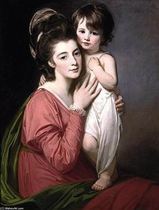 George Romney - Portrait of Mrs Henrietta Morris and Her Son John