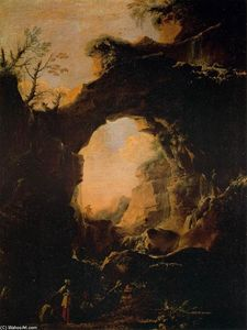 Salvator Rosa - Grotto with Cascades