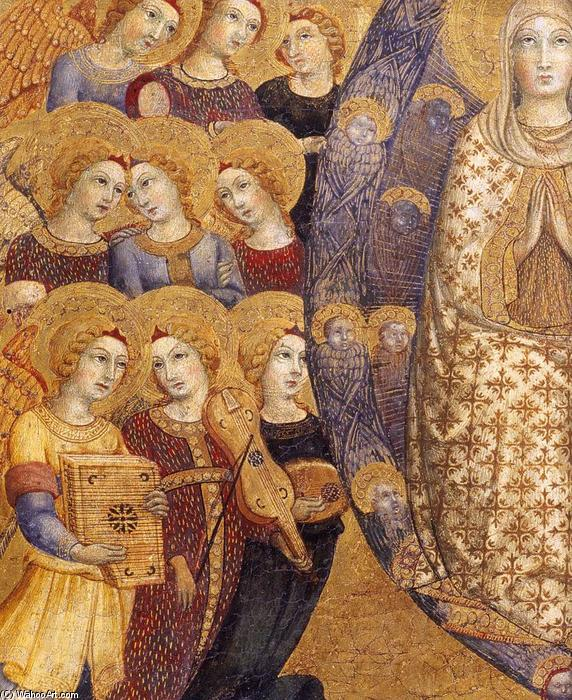 Order Paintings Reproductions | Assumption of the Virgin (detail), 1448 by Sano Di Pietro (1406-1481, Italy) | ArtsDot.com