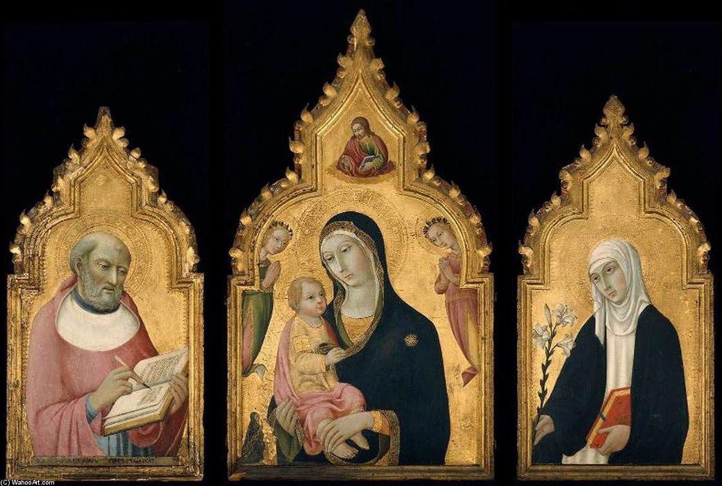 Order Paintings Reproductions | Triptych, 1470 by Sano Di Pietro (1406-1481, Italy) | ArtsDot.com