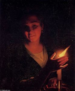 Godfried Schalcken - Young Girl with a Candle