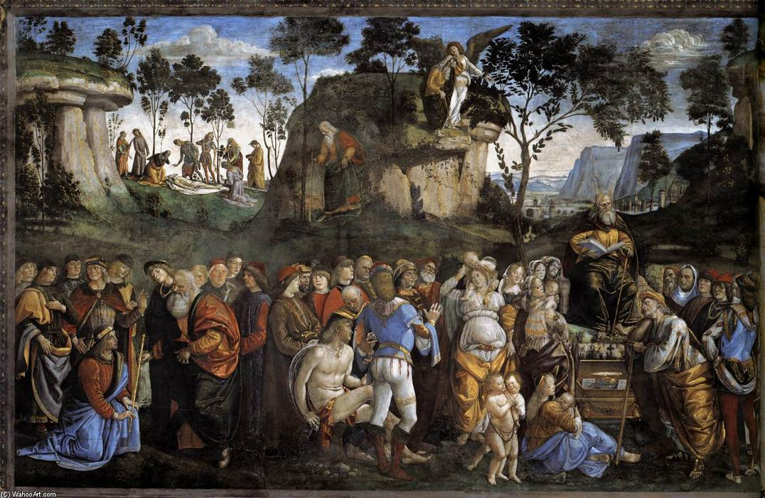 Moses's Testament and Death, Frescoes by Luca Signorelli (1445-1523, Italy)