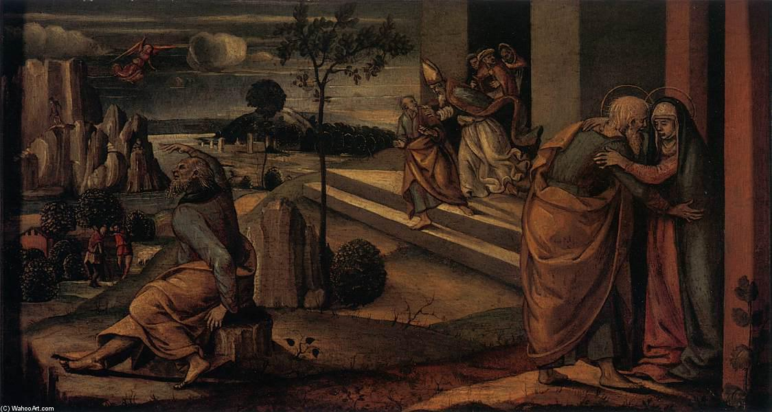 Scenes from the Lives of Joachim and Anne, Panel by Luca Signorelli (1445-1523, Italy)