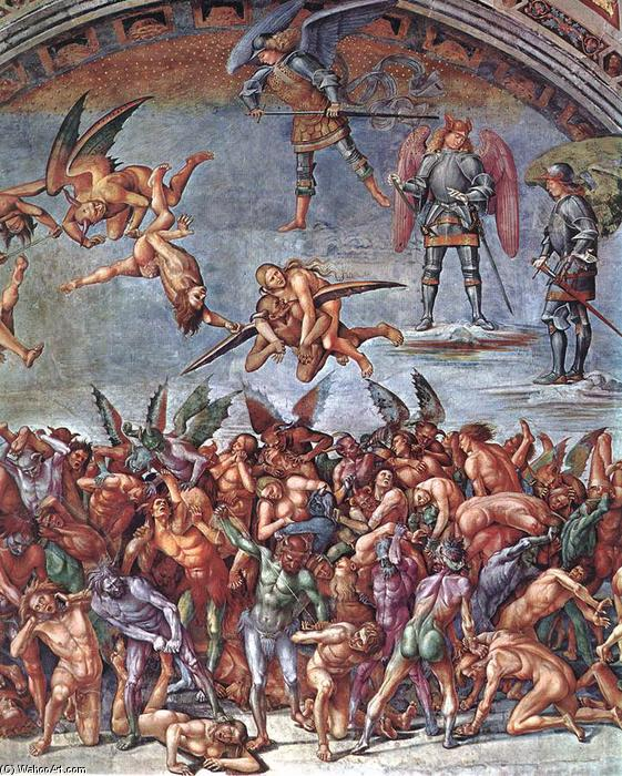 The Damned (detail) (8), Frescoes by Luca Signorelli (1445-1523, Italy)