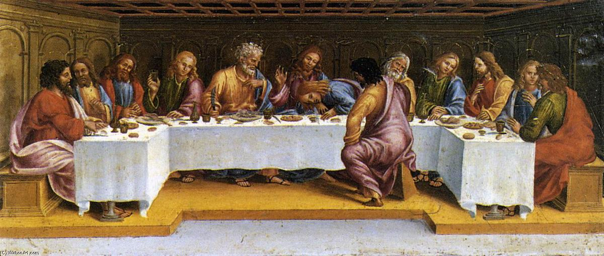 The Last Supper, Wood by Luca Signorelli (1445-1523, Italy)
