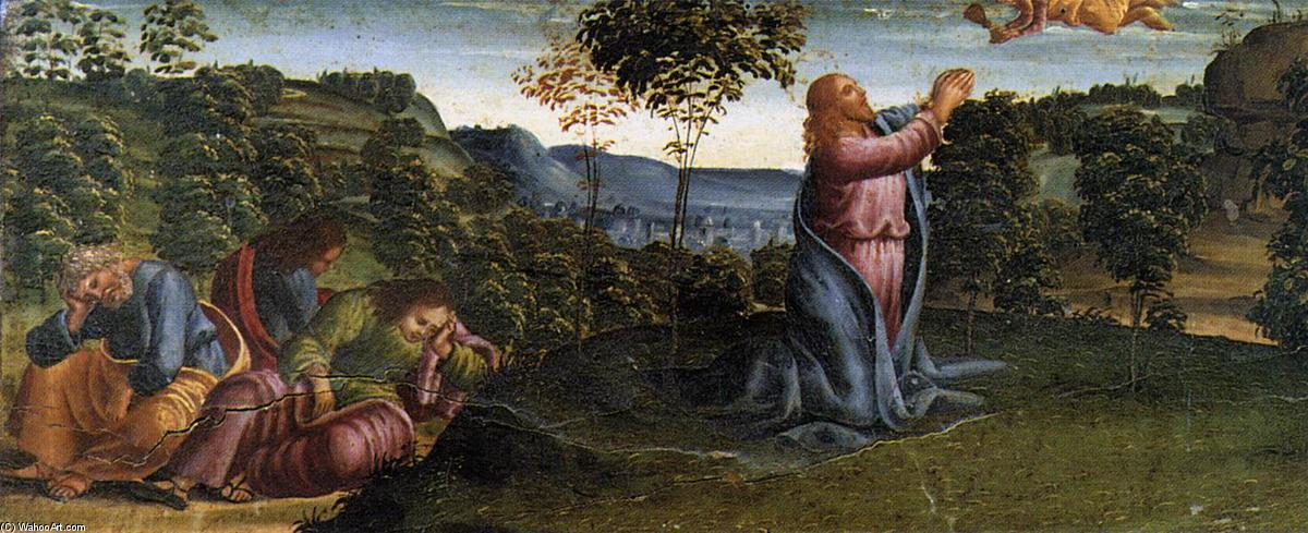 The Prayer in the Garden., Wood by Luca Signorelli (1445-1523, Italy)