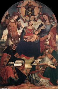 Luca Signorelli - The Trinity, the Virgin a..
