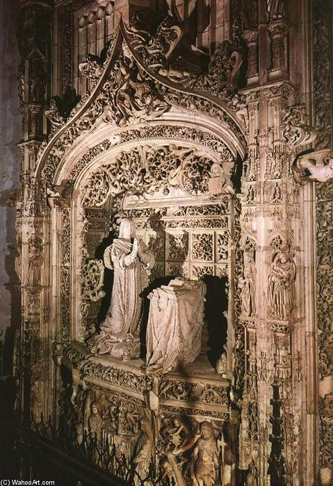 Tomb of Infante Alfonso, Alabaster by Gil De Siloe (1495-1563, Spain)