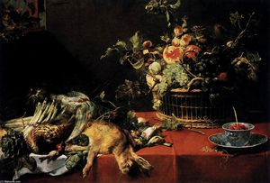 Frans Snyders - Still-Life with Fruit Bas..