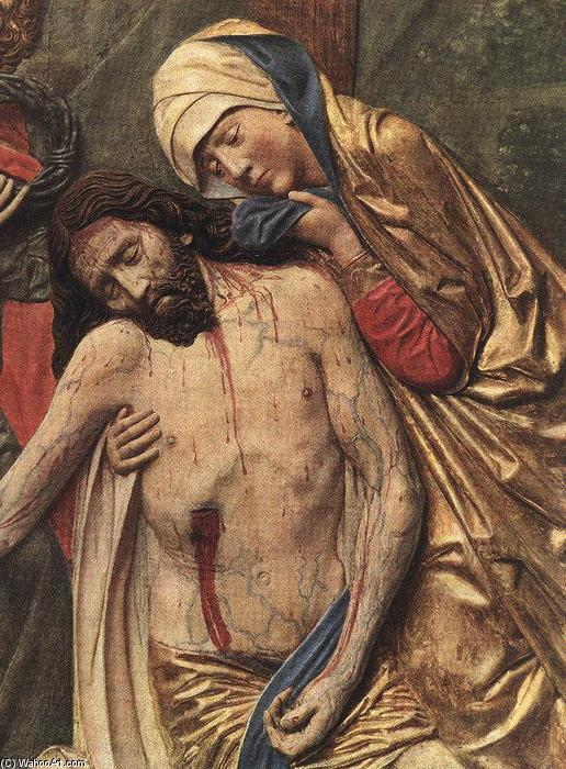 High Altar of St Mary (detail of the Lamentation), Wood by Veit Stoss (1448-1533, Germany)