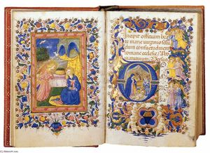 Zanobi Strozzi - Book of Hours for the Use of Rome (Folios 14v-15r)