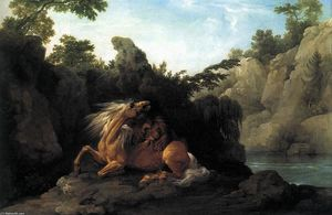 George Stubbs - Lion Devouring a Horse