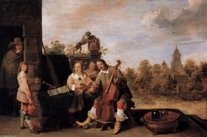 David The Younger Teniers - The Painter and His Famil..