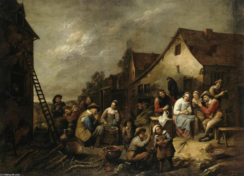 Village Inn, 1657 by Gillis Van Tilborgh (1625-1678, Belgium) | Art Reproduction | ArtsDot.com