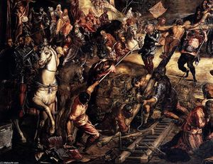 Tintoretto (Jacopo Comin) - The Crucifixion (detail)