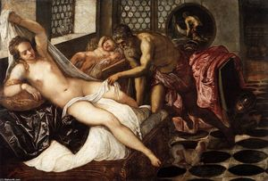 Tintoretto (Jacopo Comin) - Venus, Mars, and Vulcan
