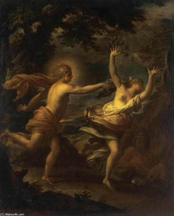 Apollo and Daphne, Oil On Canvas by Francesco Trevisani (1656-1746, Italy)