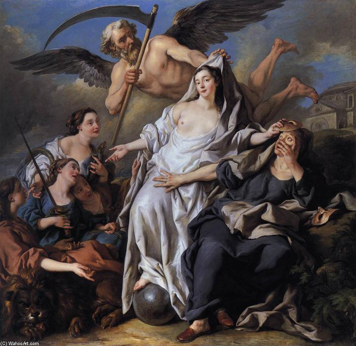 An Allegory of Time Unveiling Truth, Oil On Canvas by Jean François De Troy (1645-1730, France)