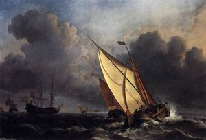 William Turner - Dutch Fishing Boats in a Storm