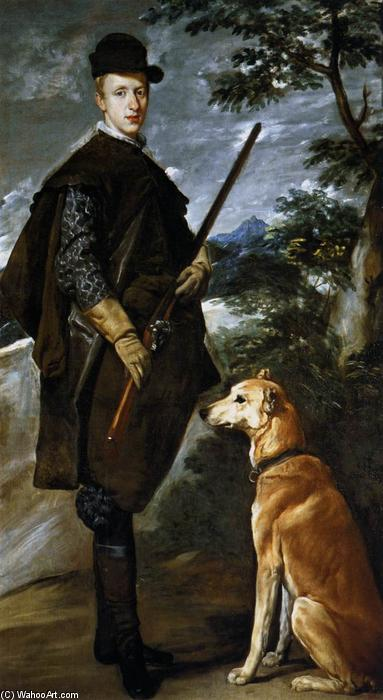 Cardinal Infante Don Fernando as a Hunter, Oil On Canvas by Diego Velazquez (1599-1660, Spain)